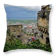 Edinburgh Castle Throw Pillow