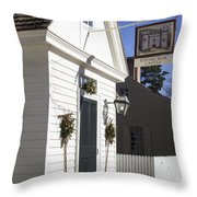 Edinburgh Castle Tavern Throw Pillow