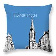 Edinburgh Skyline The Royal Mile - Slate Throw Pillow