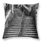 Edinburgh Steps Throw Pillow