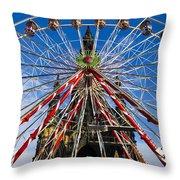 Edinburgh's Christmas Ferris Wheel Throw Pillow