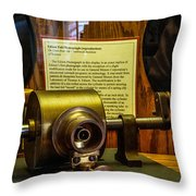 Edison Foil Phonograph Throw Pillow