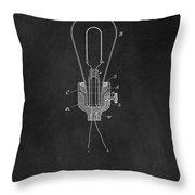 Edison Light Bulb Patent Art Chalkboard Throw Pillow