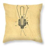 Edison Light Bulb Patent Art Throw Pillow