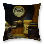 Edison Record And Equipment Throw Pillow