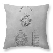 Edison's Electric Generator Patent Drawing Throw Pillow