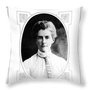 Edith Cavell (1865-1915) Throw Pillow