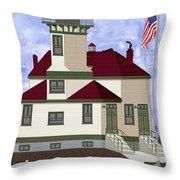 Ediz Hook Historical View Redux 2013 Throw Pillow