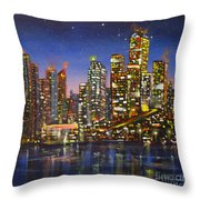 Edmonton Night Lights Throw Pillow