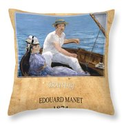 Edouard Manet 4 Throw Pillow