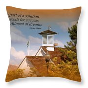 Education Is A Solution Throw Pillow