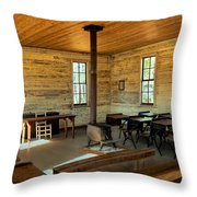 Education Of The Past Throw Pillow
