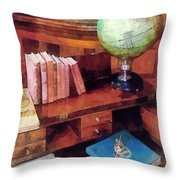 Education - Professor's Office Throw Pillow