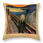 Edvard Munch 1 Throw Pillow