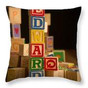 Edward - Alphabet Blocks Throw Pillow