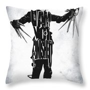 Edward Scissorhands - Johnny Depp Throw Pillow