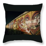 Berlin Wall Hearts Throw Pillow