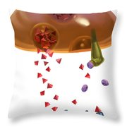 Effect Of Heroin On Neurons Throw Pillow