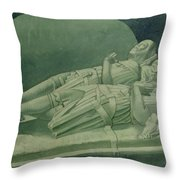 Effigies, Winchelsea Church Throw Pillow