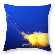Egg - Yolk Jellyfish Throw Pillow