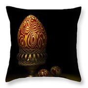 Egg And Marbles Throw Pillow