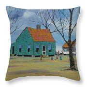 Egg Farm Throw Pillow