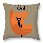 Egg Me On In Orange Throw Pillow