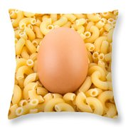 Egg On Macaroni Throw Pillow