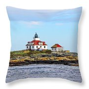 Egg Rock Lighthouse Throw Pillow