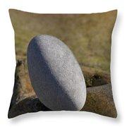 Egg-shaped Stone Throw Pillow