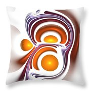 Eggcity Throw Pillow