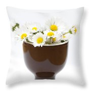 Eggcup Daisies Throw Pillow