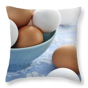 Eggs In Bowl Throw Pillow by Elena Elisseeva
