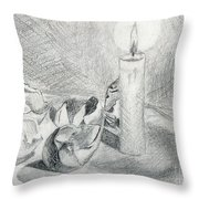 Eggshells In Candlelight Throw Pillow