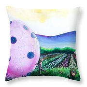 Eggstatic Throw Pillow