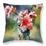 Eglantine From My Garden Throw Pillow