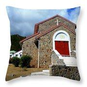 Eglise Catholique De Quartier D'orleans Throw Pillow