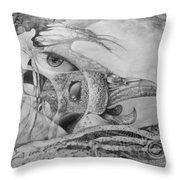 Ego-bird-fish Nesting Ground Throw Pillow