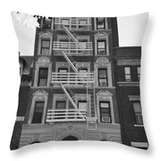 Egress Building In Black And White Throw Pillow