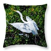 Egret 1 Throw Pillow