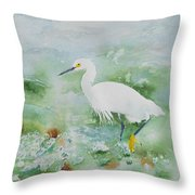 Egret 2 Throw Pillow