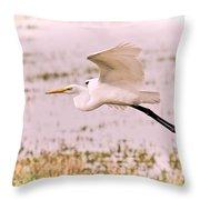 Egret Pastel Throw Pillow