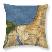 Egypt And The Holy Land Throw Pillow