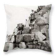 Egypt C1890 Throw Pillow