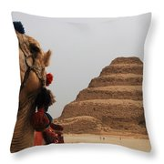 Egypt Step Pyramid Saqqara Throw Pillow