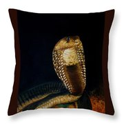 Egyptian Cobra Throw Pillow