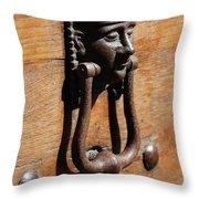 Egyptian Door Knocker Throw Pillow