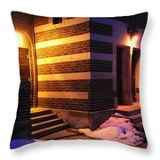 Egyptian Entrance Throw Pillow