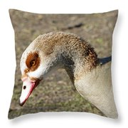 Egyptian Goose Profile Throw Pillow