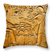 Egyptian Hieroglyphics Throw Pillow
